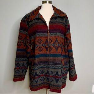 Vintage LL Bean Pendleton-Style Wool Coat